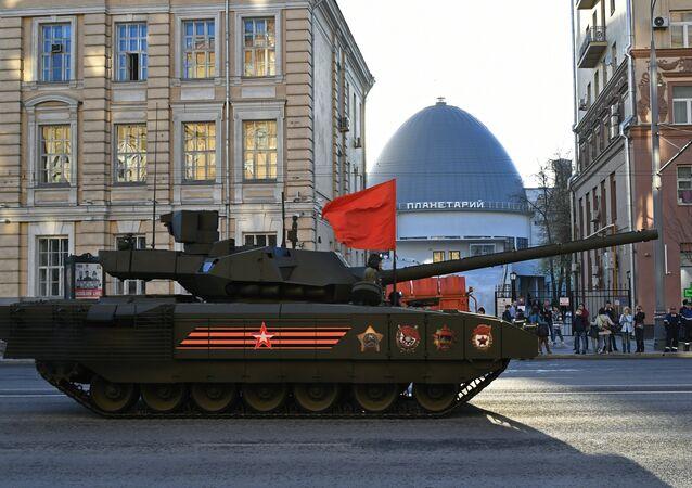 Tanque da terceira geração T-14 Armata