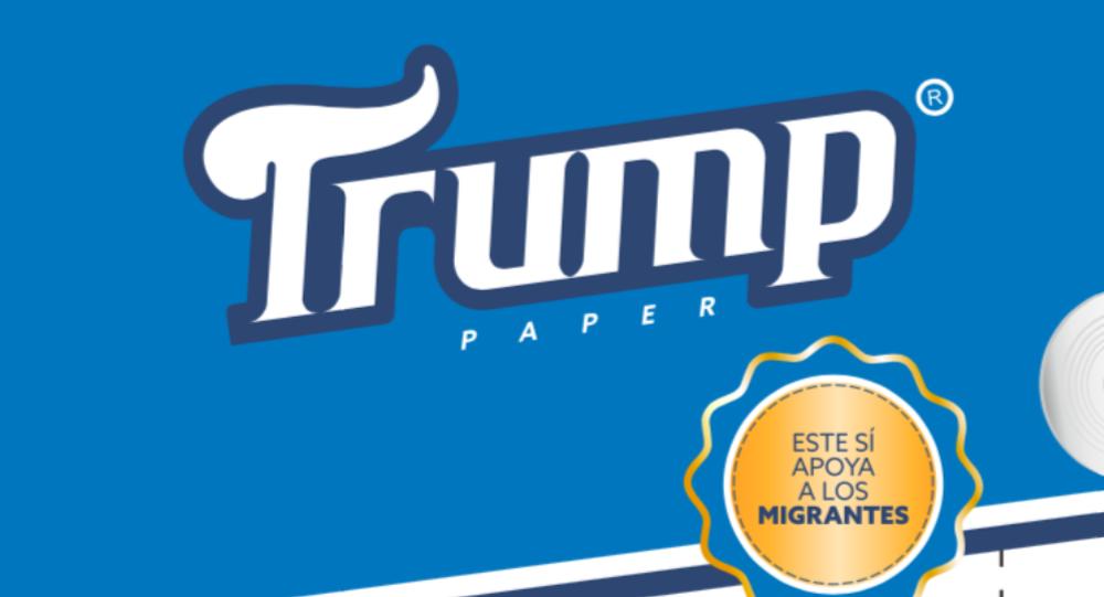 Papel higiênico Trump Paper