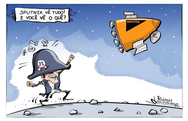 Macron acha que a melhor defesa é o ataque, mas não tem 'armas'
