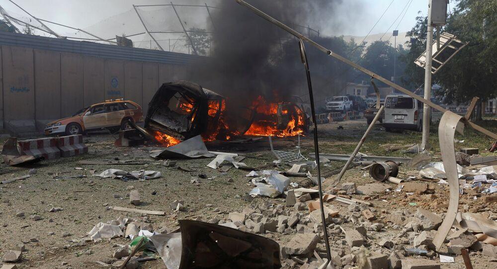 Explosão atinge capital afegã, Cabul, 31 de maio de 2017 (imagem referencial)