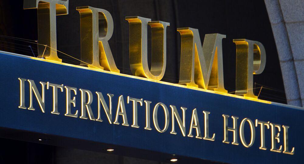 Imagem da fachada do Trump International Hotel, em Washington, nos Estados Unidos