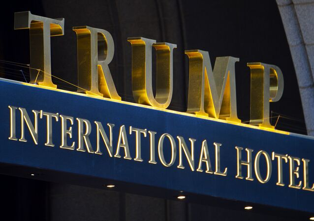 Imagem da fachada do Trump International Hotel, em Washington, nos Estados Unidos
