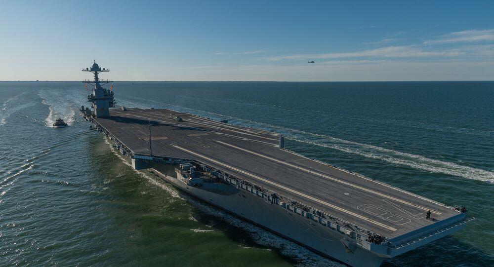 Porta-aviões dos EUA USS Gerald Ford (foto de arquivo)