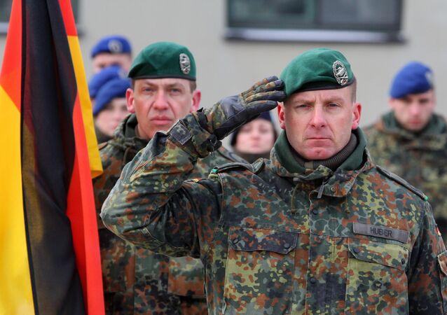 Comandante do batalhão internacional da OTAN e do contingente alemão na Lituânia, Christoph Huber, em 7 de fevereiro de 2017
