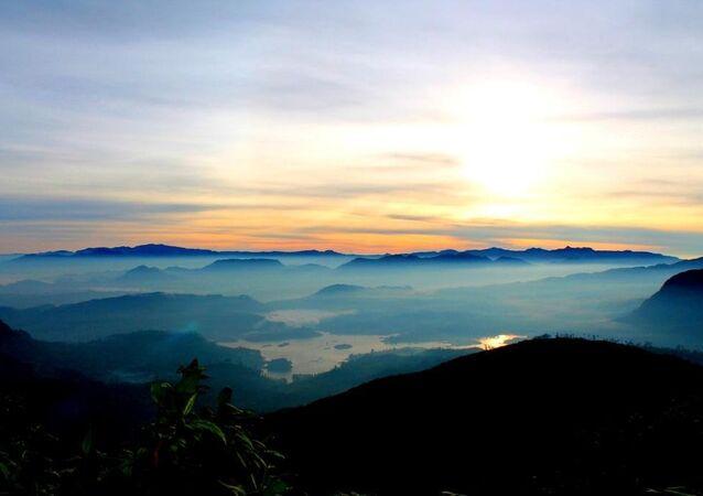 Sri Lanka: vista do monte de Adão