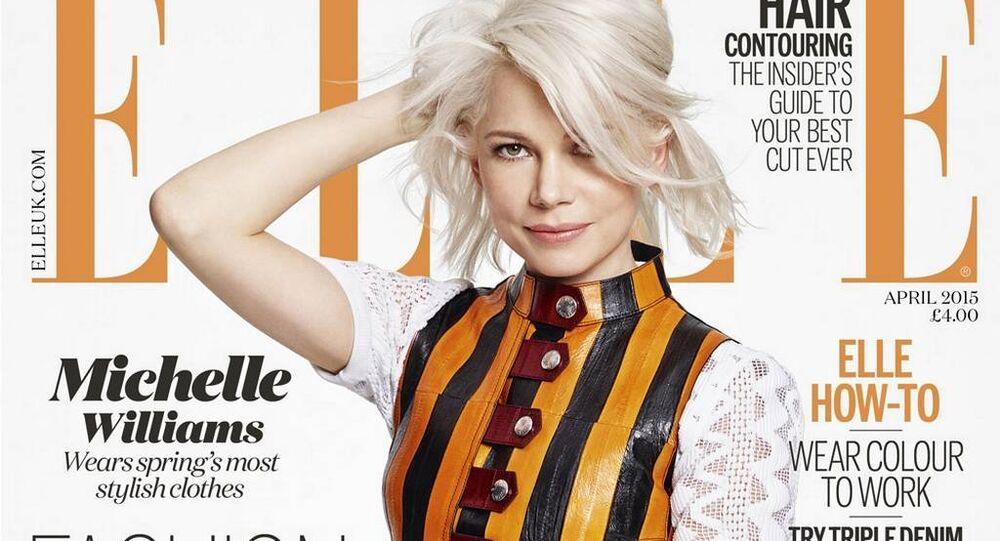 Capa original da revista ELLE na Ucrânia