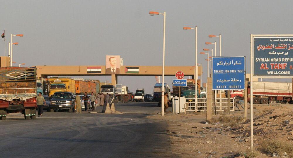Cidade síria de Tanf, província de Homs, perto das fronteiras com Iraque e Jordânia