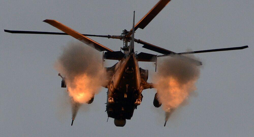 Helicóptero Ka-52 russo