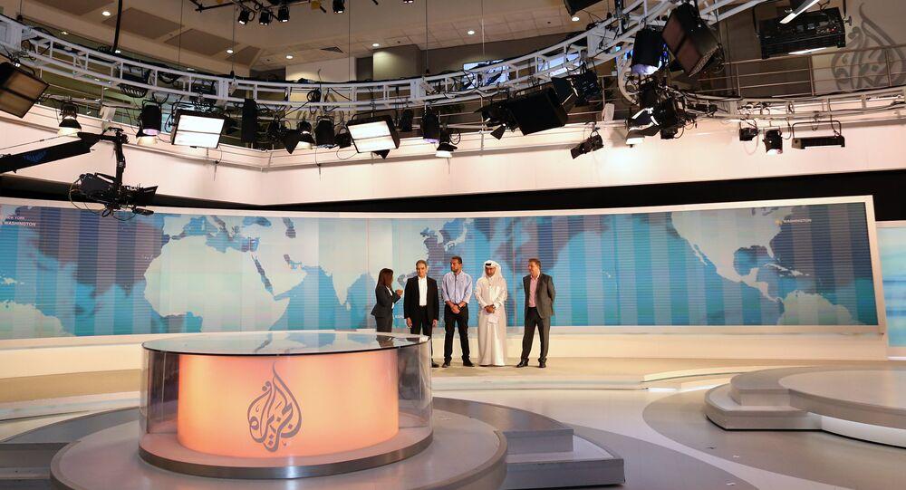 Estúdio da Al Jazeera em Doha