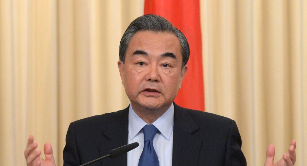 Ministro das Relações Exteriores da China, Wang Yi (foto de arquivo)