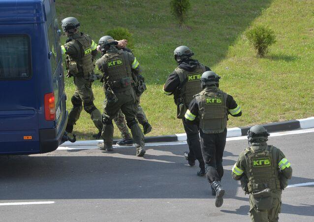 Agentes do serviço antiterrorista bielorrussos (arquivo)