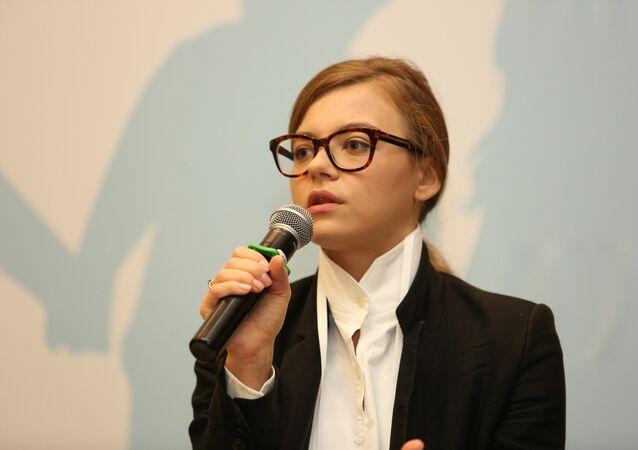 A vice-chefe do Ministério do Interior da Ucrânia Anastasia Deeva