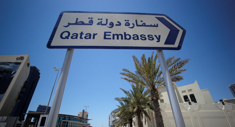 Embaixada do Qatar na cidade de Manama, no Bahrein, em 5 de junho de 2017