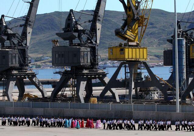 O porto norte-coreano de Rajin