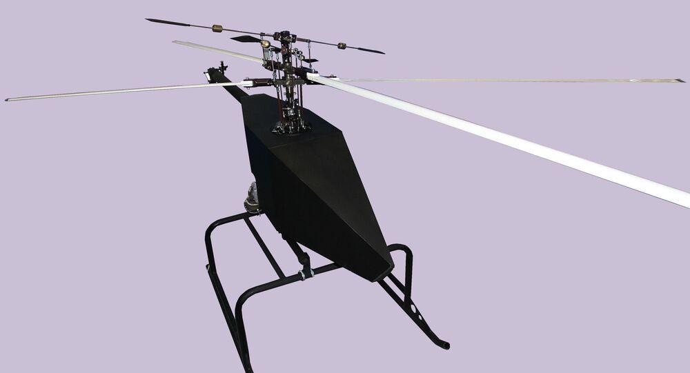 O veículo aéreo não tripulado russo, de tipo helicóptero, Voron 777-1