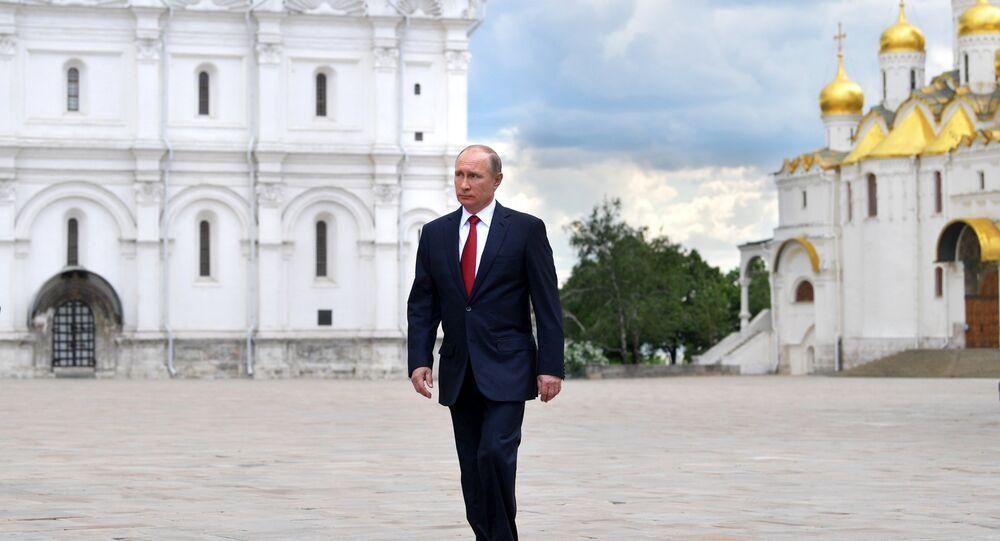 Vladímir Putin, presidente da Rússia, no Kremlin (foto de arquivo)