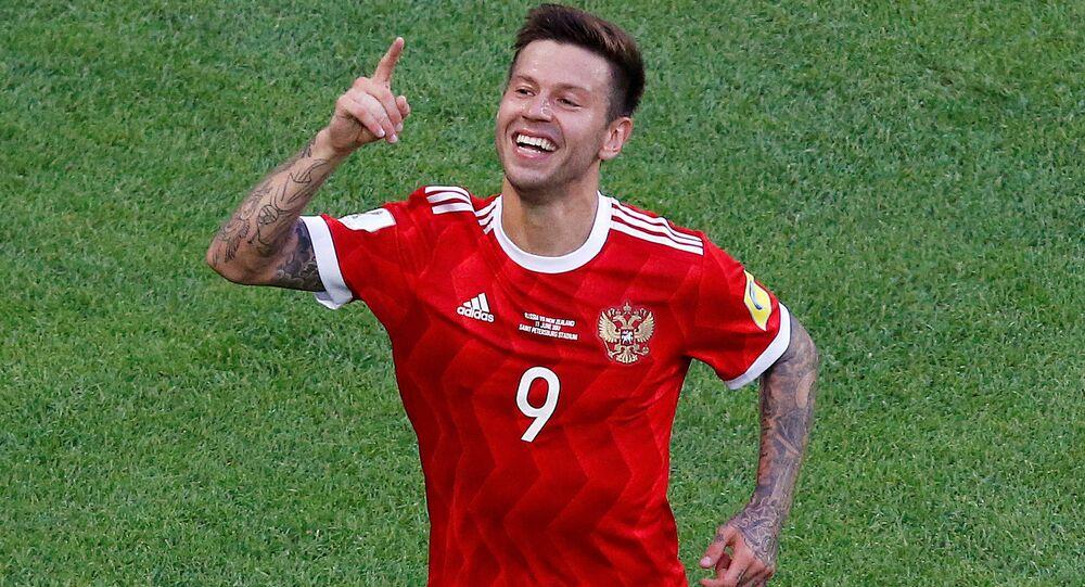 Fedor Smolov, responsável pelo segundo gol da Rússia