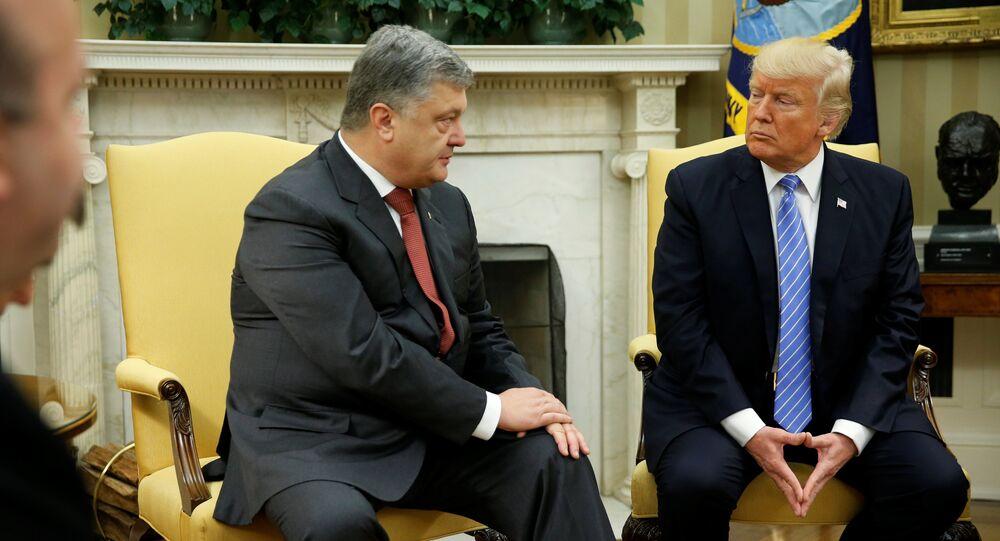 Donald Trump se reúne com Pyotr Poroshenko, 20 de julho de 2017