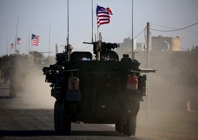 Forças dos EUA em Manbij, Síria, foto de arquivo