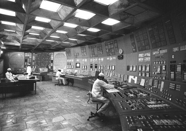 Usina nuclear de Chernobyl antes do acidente de 1986