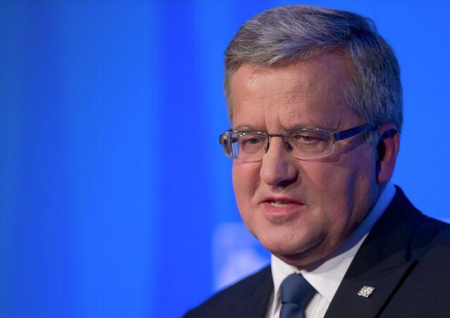Presidente da Polônia, Bronislaw Komorowski.