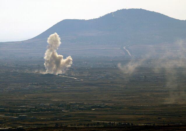 Colinhas de Golã, fronteira entre Síria e Israel