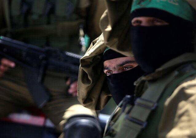 Militantes do movimento Hamas