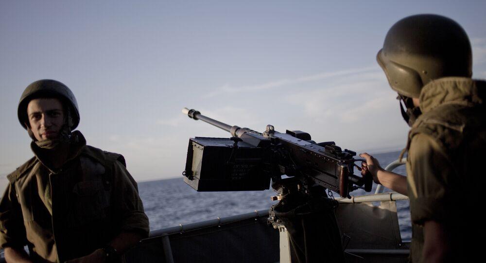 Efetivos da Marinha de Israel durante treinamentos, foto de arquivo