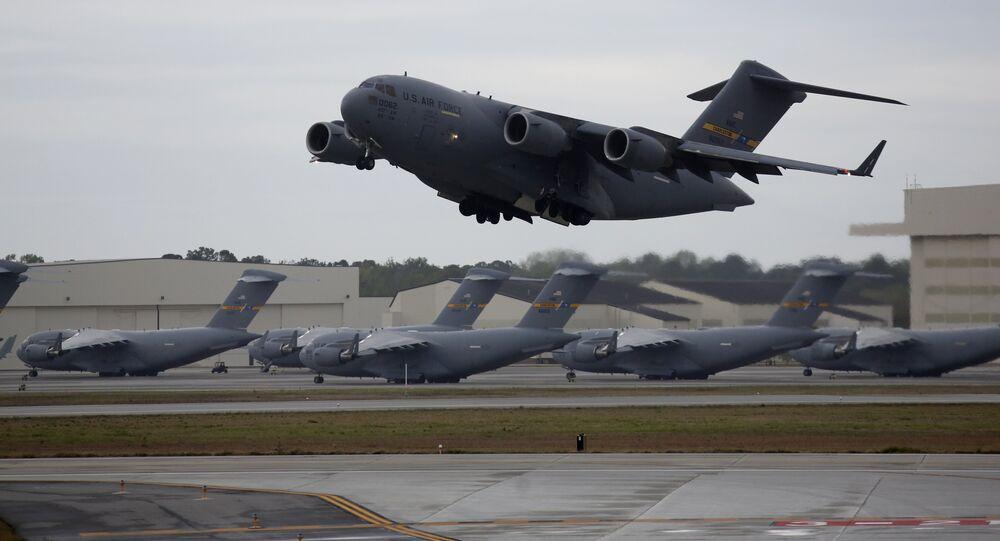 C-17, avião de transporte militar da Força Aérea dos EUA, foto de arquivo