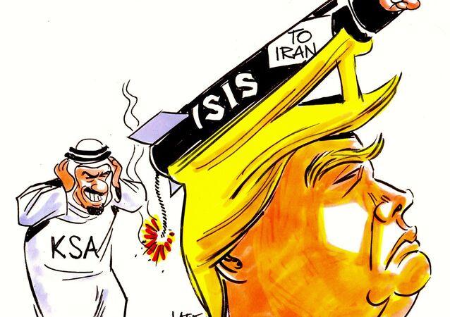 Trump, no traço do chargista Latuff