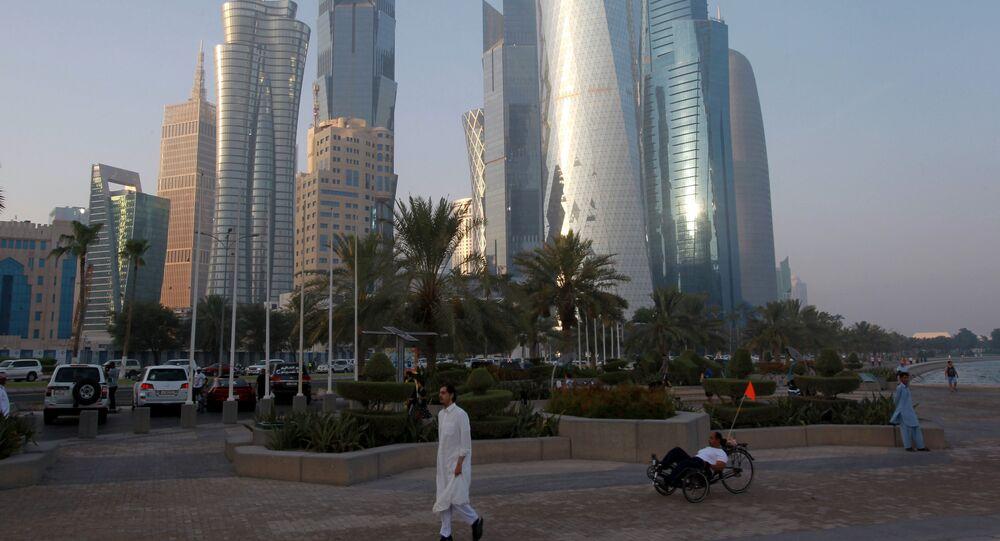 Doha, capital do Qatar, em 15 de junho de 2017
