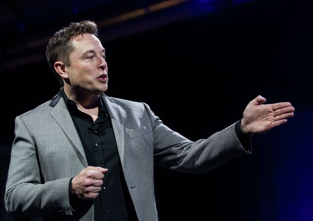 Elon Musk, CEO of Tesla Motors Inc., unveils the company's newest products, Powerwall and Powerpack in Hawthorne, Calif.