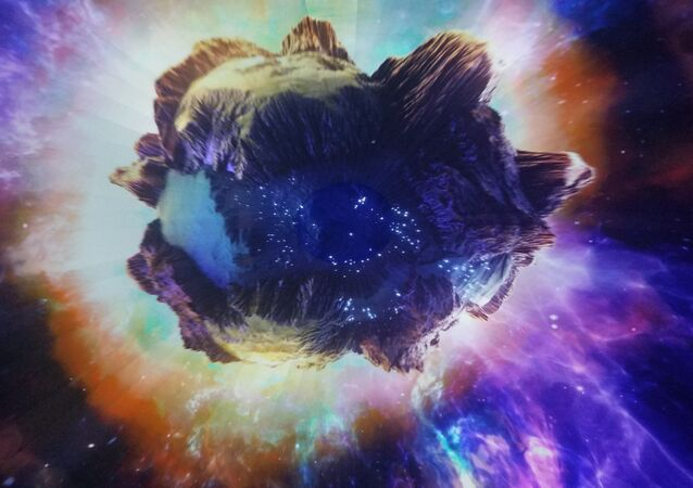 Um asteroide (ilustração)
