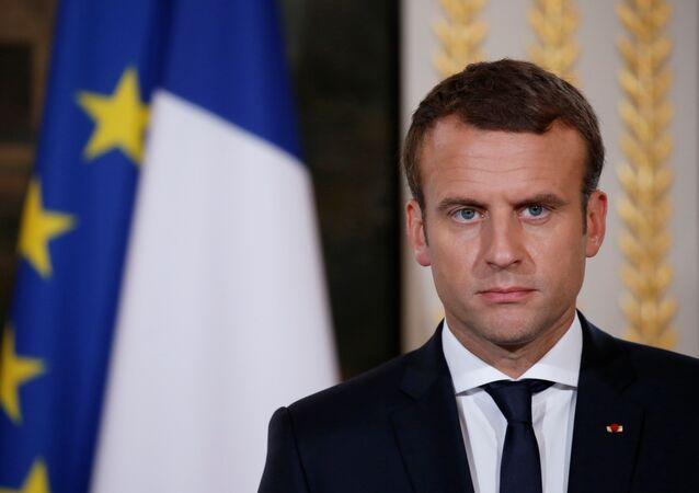 O presidente francês, Emmanuel Macron