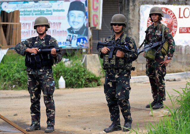 Militares filipinos em Marawi