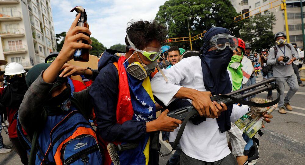 Protestos de oposição na venezuela, em 3 de maio de 2017