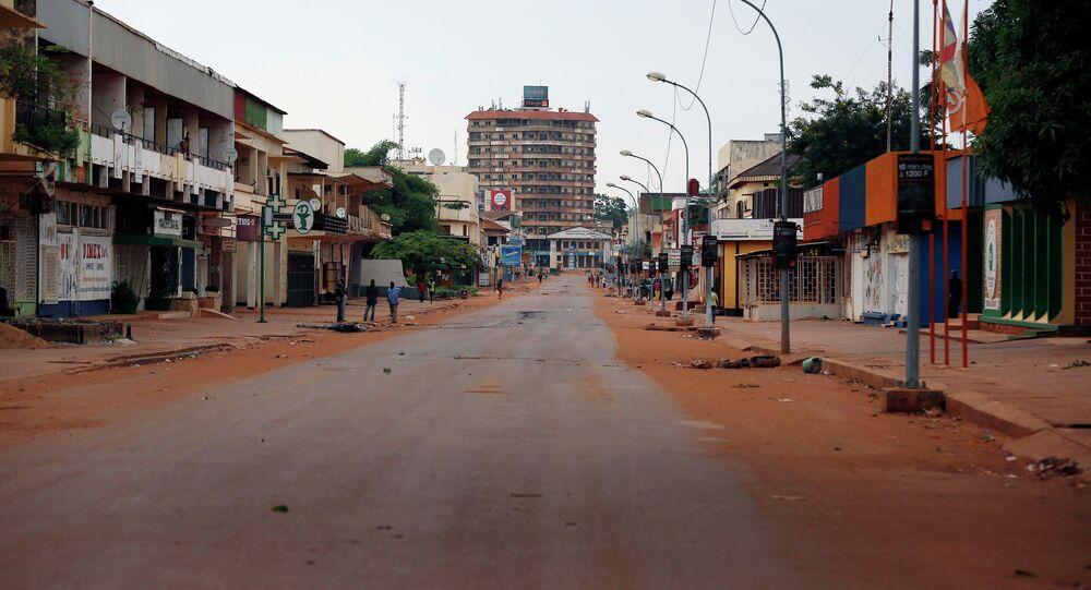 Rua de Bangui, capital da República Centro-Africana (arquivo)