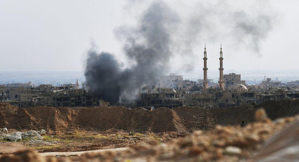 Ataques contra as posições do Daesh perto de Deir ez-Zor (arquivo)