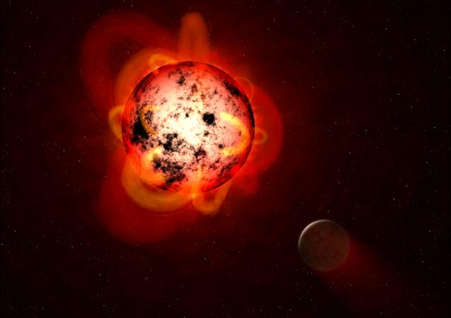 Exoplaneta próximo a uma anã vermelha