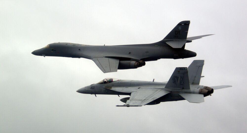 Caças-bombardeiros B-1B da Força Aérea dos EUA