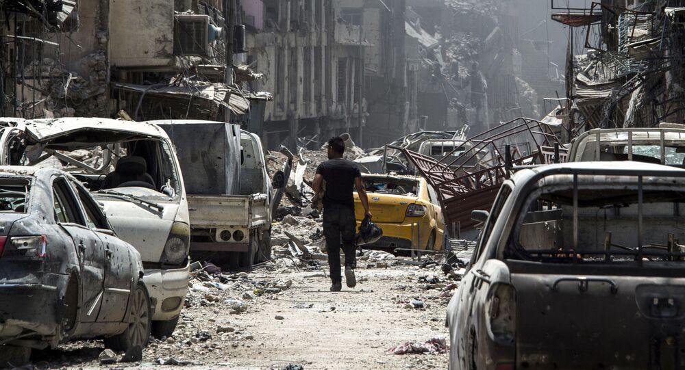 Homem em uma das ruas do Iraque