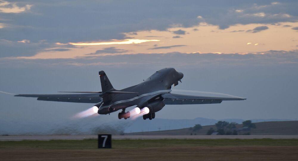 Bombardeiro estratégico dos EUA B-1 Lancer, arquivo