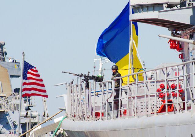 Manobras navais internacionais Sea Breeze 2017 organizados pelos EUA e Ucrânia no mar Negro