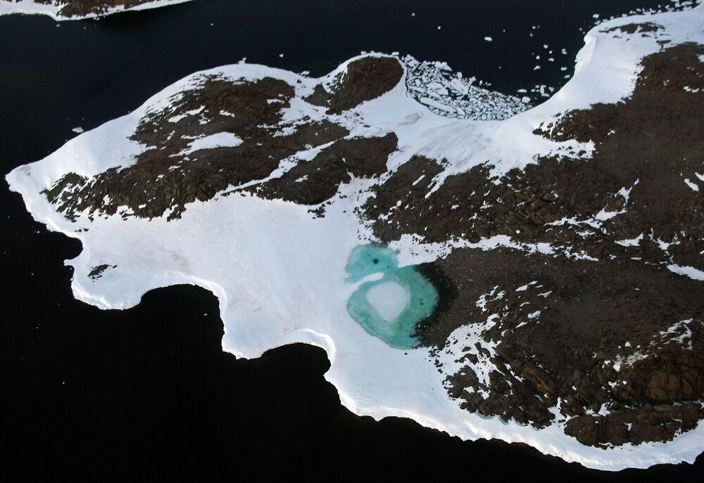 Beleza do degelo da Antártica
