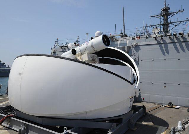 Sistema de armas de raio laser Laser Weapon System (foto de arquivo)
