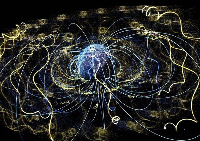 Ondas de plasma no espaço circundam a Terra (imagem referencial)