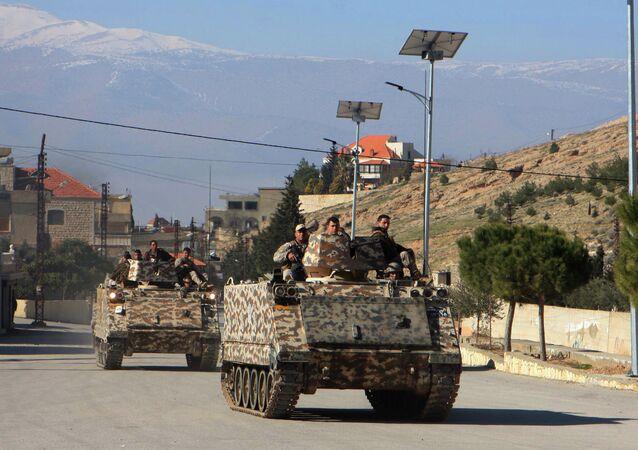 Militares do Exército Libanês no Vale do Bekaa, perto da fronteira com a Síria (arquivo)