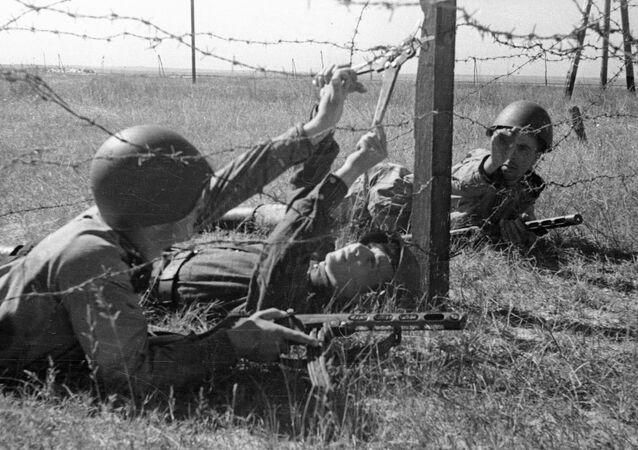Soldados soviéticos durante a Segunda Guerra Mundial