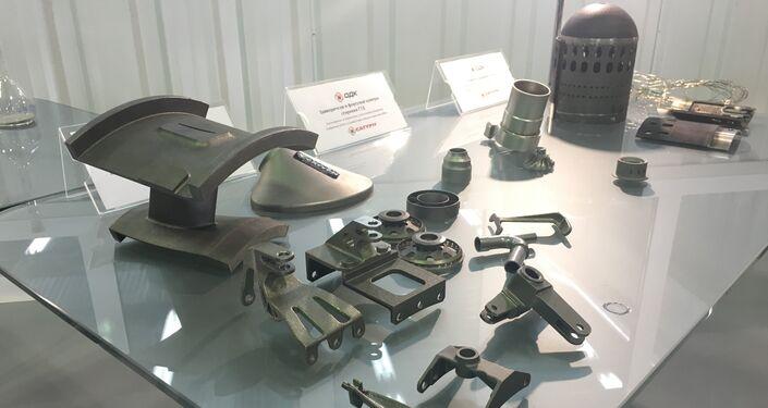 Réplicas de peças de produção conjunta russo-francesa usadas na montagem dos motores SaM146