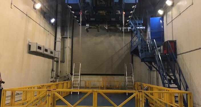 Sala de testes do SaM146 onde se imitam as condições reais de voo